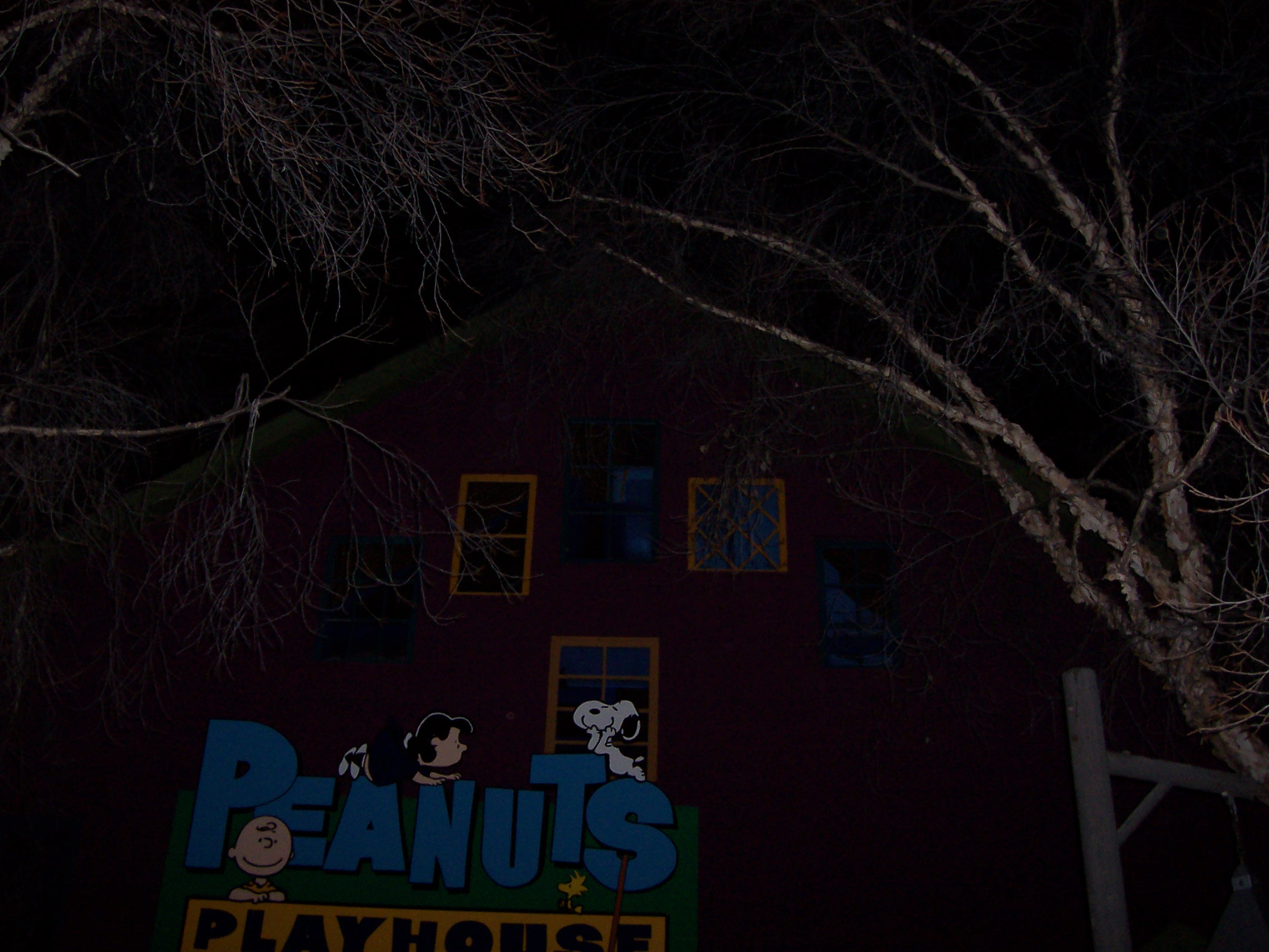 Outside of Peanut's Playhouse