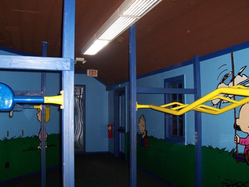 Inside Peanut's Playhouse